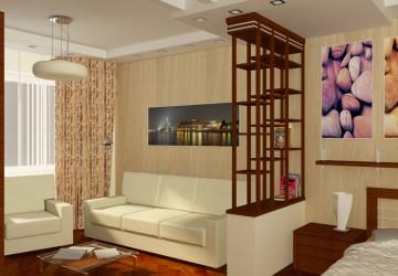 Интерьер однокомнатной квартиры, фото поможет определиться с выбором