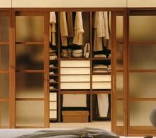 Гардеробные шкафы от компании Elfa