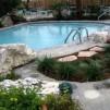 Строительство стильного бассейна на даче